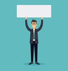 Business people giving presentation with white vector