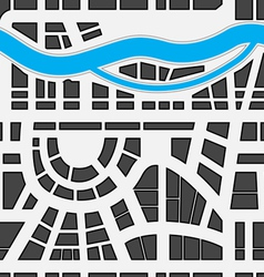 Seamless background of city map vector