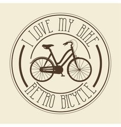 Vintage bicycle isolated icon design vector