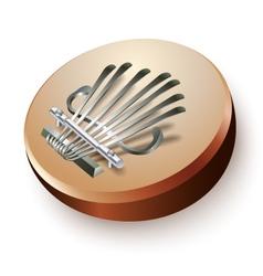 African thumb piano mbira or kalimba vector image