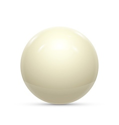 Billiard white ball isolated on a white background vector