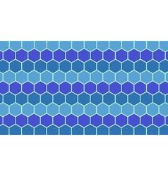 Blue hexagonal geometric background vector