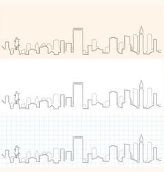 Boston hand drawn skyline vector