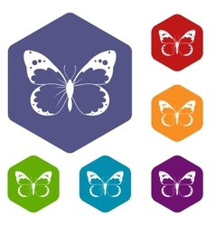 Butterfly icons set vector