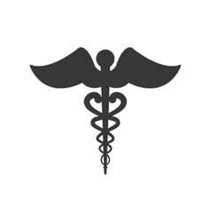 Caduceus medical health care icon graphic vector