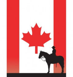 canadian mountie vector image