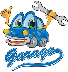 Car garage vector