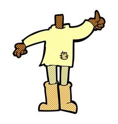 comic cartoon body mix and match comic cartoons or vector image vector image