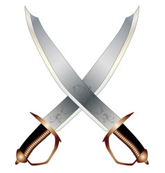 crossed cutlasses vector image
