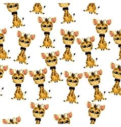 Cute giraffe baby vector
