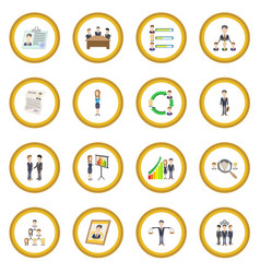 human resources icon circle vector image vector image