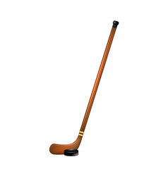 Ice hockey stick and puck vector
