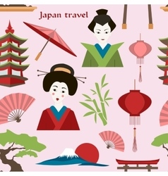 Japan travel pattern vector
