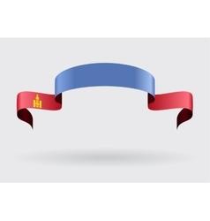 Mongolian flag background vector