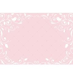 Pink vintage background vector