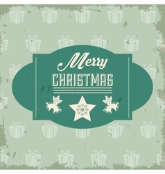 Star and bell icon merry christmas design vector