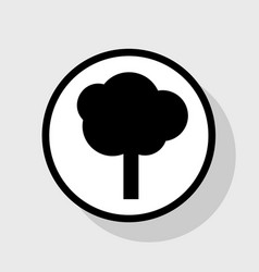 Tree sign flat black icon in vector