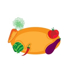 vegetable design vector image