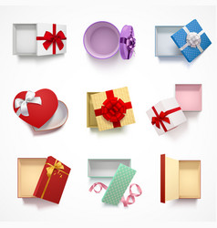 Versatile gift boxes set vector