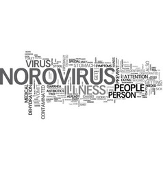 What you need to know about norovirus text word vector