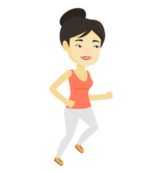 young woman running vector image