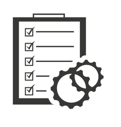 Checklist clipboard paper isolated icon vector