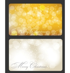 Set of cards with christmas balls stars and vector