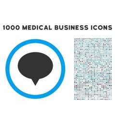 Banner icon with 1000 medical business pictograms vector