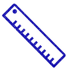Length ruler icon grunge watermark vector
