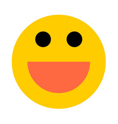 Happy smiley smiling face flat style vector