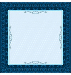 Square blue background with decorative ornate vector