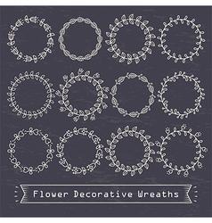 Flower decorative wreaths vector
