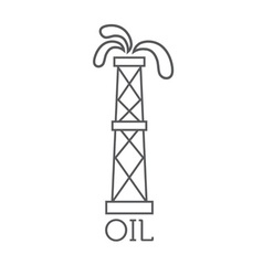 Oil rig abstract design template vector