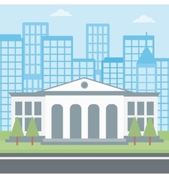 Background of educational building vector