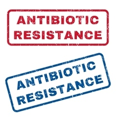 Antibiotic resistance rubber stamps vector