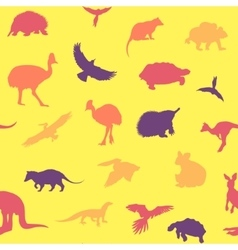 Australian animals pattern vector