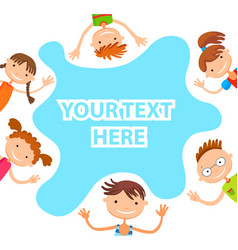 banner kid child funny cartoon character vector image