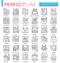 Beauty spa cosmetic concept symbols perfect thin vector