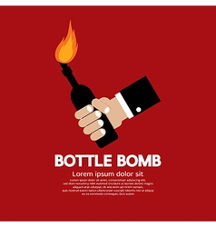 Bottle Bomb vector image