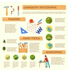 Carpentry infographic set vector