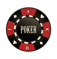 Casino poker chip vector