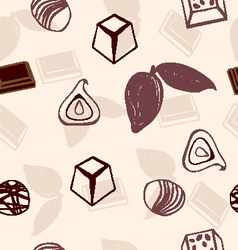 chocolate pattern hand-drawn vector image