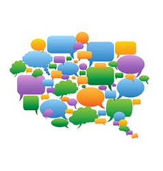 Colorful speech bubbles group vector image