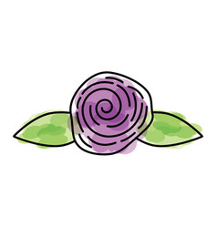 Cute flower rose icon vector