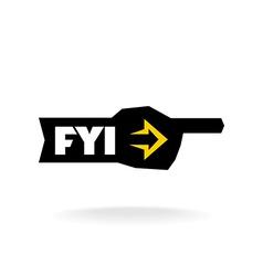 FYI sign Information pointer logo vector image vector image