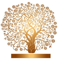 gold tree vector image