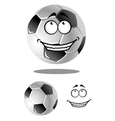 Happy cartoon soccer or football ball vector