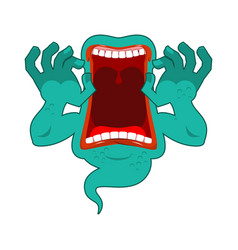 Hungry ghost scary ghost spook horrible ghost vector