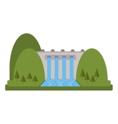 Isolated dam design vector