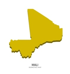 Isometric map of mali detailed vector